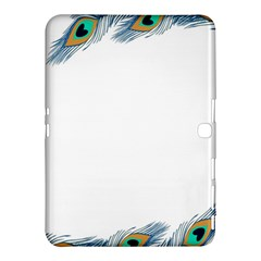 Beautiful Frame Made Up Of Blue Peacock Feathers Samsung Galaxy Tab 4 (10 1 ) Hardshell Case
