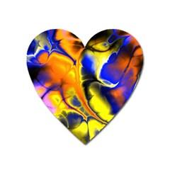 Fractal Art Pattern Cool Heart Magnet