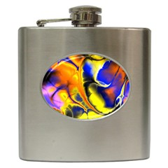 Fractal Art Pattern Cool Hip Flask (6 Oz)