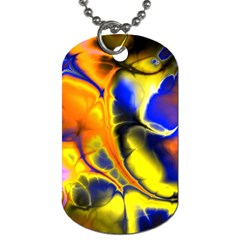 Fractal Art Pattern Cool Dog Tag (two Sides)