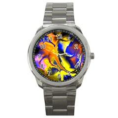 Fractal Art Pattern Cool Sport Metal Watch