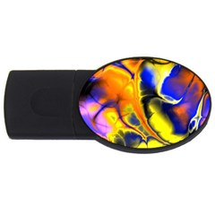 Fractal Art Pattern Cool Usb Flash Drive Oval (4 Gb)