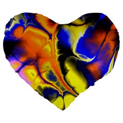 Fractal Art Pattern Cool Large 19  Premium Heart Shape Cushions