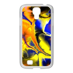 Fractal Art Pattern Cool Samsung Galaxy S4 I9500/ I9505 Case (white)