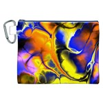 Fractal Art Pattern Cool Canvas Cosmetic Bag (XXL) Front