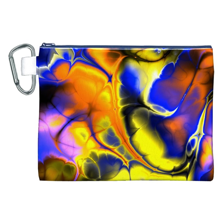 Fractal Art Pattern Cool Canvas Cosmetic Bag (XXL)