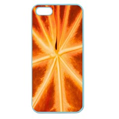 Red Leaf Macro Detail Apple Seamless Iphone 5 Case (color)