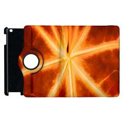 Red Leaf Macro Detail Apple Ipad 3/4 Flip 360 Case