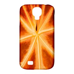 Red Leaf Macro Detail Samsung Galaxy S4 Classic Hardshell Case (pc+silicone)