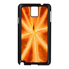 Red Leaf Macro Detail Samsung Galaxy Note 3 N9005 Case (black)