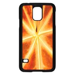 Red Leaf Macro Detail Samsung Galaxy S5 Case (black)