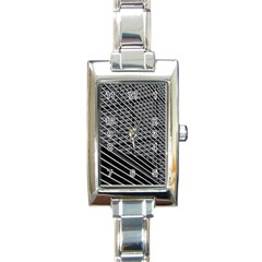 Abstract Architecture Pattern Rectangle Italian Charm Watch