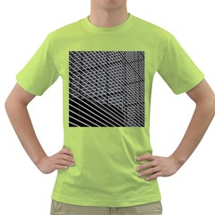 Abstract Architecture Pattern Green T Shirt