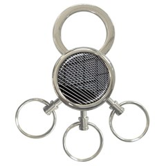 Abstract Architecture Pattern 3 Ring Key Chains