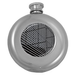 Abstract Architecture Pattern Round Hip Flask (5 Oz)