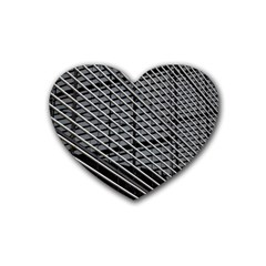 Abstract Architecture Pattern Heart Coaster (4 Pack)