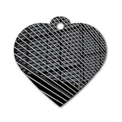 Abstract Architecture Pattern Dog Tag Heart (two Sides)