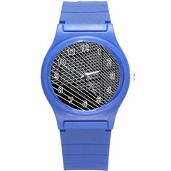 Abstract Architecture Pattern Round Plastic Sport Watch (s)