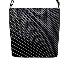 Abstract Architecture Pattern Flap Messenger Bag (l)