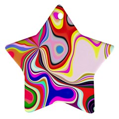 Colourful Abstract Background Design Ornament (star)