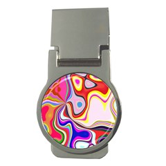 Colourful Abstract Background Design Money Clips (round)