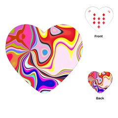 Colourful Abstract Background Design Playing Cards (heart)