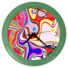 Colourful Abstract Background Design Color Wall Clocks