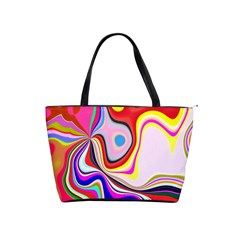 Colourful Abstract Background Design Shoulder Handbags
