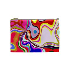 Colourful Abstract Background Design Cosmetic Bag (medium)