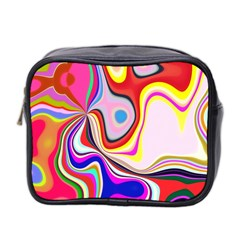 Colourful Abstract Background Design Mini Toiletries Bag 2 Side
