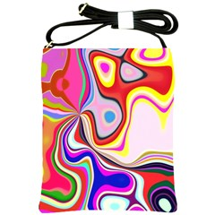 Colourful Abstract Background Design Shoulder Sling Bags