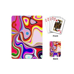 Colourful Abstract Background Design Playing Cards (mini)