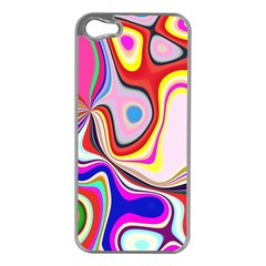 Colourful Abstract Background Design Apple Iphone 5 Case (silver)