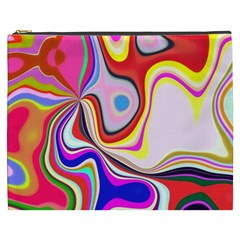 Colourful Abstract Background Design Cosmetic Bag (xxxl)