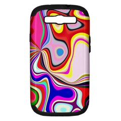 Colourful Abstract Background Design Samsung Galaxy S Iii Hardshell Case (pc+silicone)