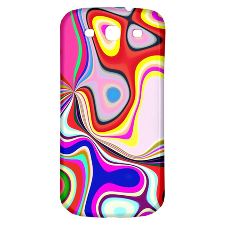 Colourful Abstract Background Design Samsung Galaxy S3 S III Classic Hardshell Back Case