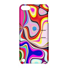 Colourful Abstract Background Design Apple Ipod Touch 5 Hardshell Case With Stand