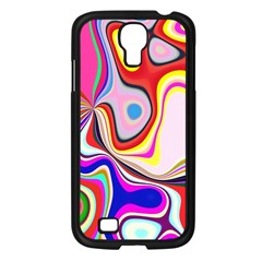 Colourful Abstract Background Design Samsung Galaxy S4 I9500/ I9505 Case (black)