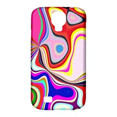 Colourful Abstract Background Design Samsung Galaxy S4 Classic Hardshell Case (pc+silicone)