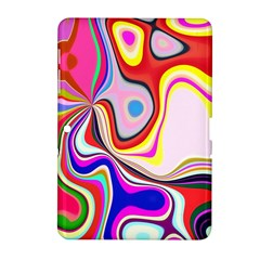 Colourful Abstract Background Design Samsung Galaxy Tab 2 (10 1 ) P5100 Hardshell Case