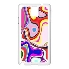 Colourful Abstract Background Design Samsung Galaxy Note 3 N9005 Case (white)