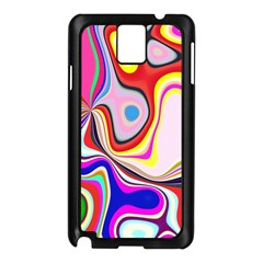 Colourful Abstract Background Design Samsung Galaxy Note 3 N9005 Case (black)