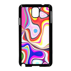 Colourful Abstract Background Design Samsung Galaxy Note 3 Neo Hardshell Case (black)