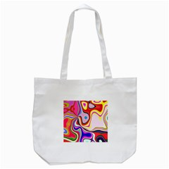 Colourful Abstract Background Design Tote Bag (white)