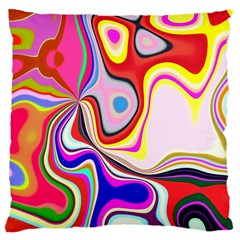 Colourful Abstract Background Design Large Flano Cushion Case (two Sides)