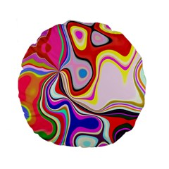 Colourful Abstract Background Design Standard 15  Premium Flano Round Cushions