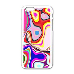 Colourful Abstract Background Design Apple Iphone 6/6s White Enamel Case