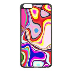 Colourful Abstract Background Design Apple Iphone 6 Plus/6s Plus Black Enamel Case