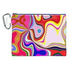 Colourful Abstract Background Design Canvas Cosmetic Bag (xxl)