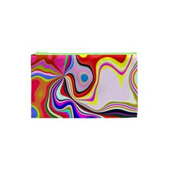 Colourful Abstract Background Design Cosmetic Bag (xs)